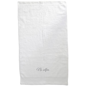 No Selfies Embroidered Towel