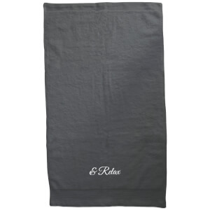 & Relax Embroidered Towel