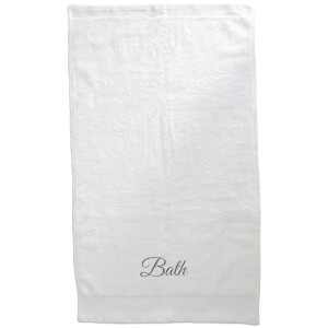 Bath Embroidered Towel