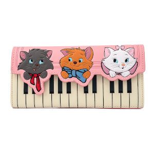 Loungefly Disney Aristocats Piano Kitties Trifold Wallet