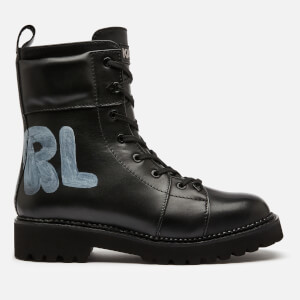 Karl Lagerfeld Women's Kadet Ii Hi Leather Lace Up Boots - Black
