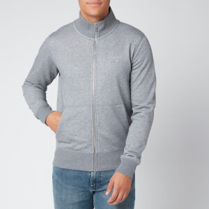 Gant Men's The Original Full Zip Cardigan - Dark Grey Melange