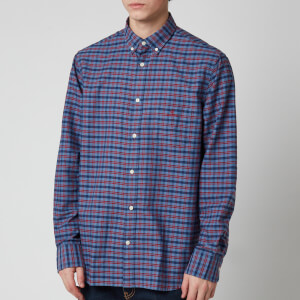 Gant Men's Oxford Check Shirt - Mahogany Red