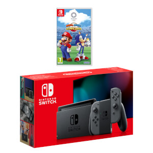 Nintendo Switch (Grey) Mario & Sonic at the Olympic Games Tokyo 2020 Pack