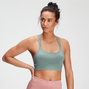 MP Women's Tonal Graphic Bra - Washed Green