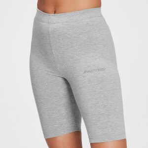 MP Women's Tonal Graphic Cycling Shorts - Grey Marl