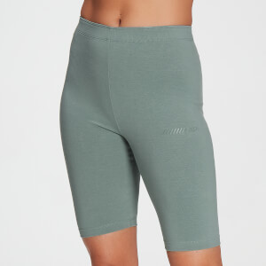 MP Women's Tonal Graphic Cycling Shorts - Washed Green
