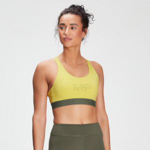 MP Damen Branded Training Sport-BH – Washed Yellow
