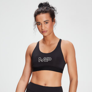MP Women's Branded Training Sports Bra – Svart