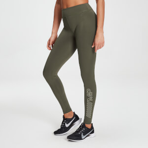 MP Branded Training Leggings für Damen – Dark Olive