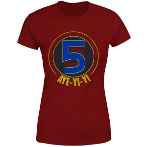 T-shirt Power Rangers Alpha-5 Logo - Burgundy - Femme