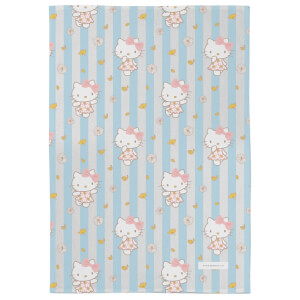 Hello Kitty Buttercream Flowers Tea Towel
