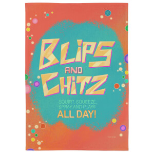 Rick And Morty Blips And Chitz Tea Towel
