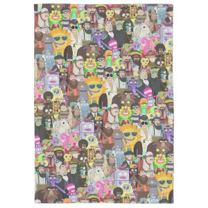Rick And Morty Parasite Tea Towel