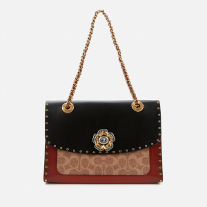 Coach Women's Signature Border Rivets Parker Shoulder Bag - Black Multi