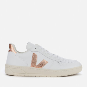 Veja Women's V-10 Leather Trainers - Extra White/Venus
