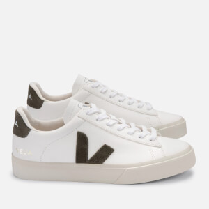 Veja Women's Campo Chrome Free Leather Trainers - Extra White/Khaki