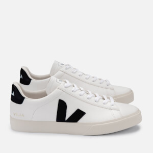 Veja Women's Campo Chrome Free Leather Trainers - Extra White/Black