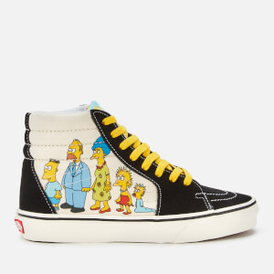 Vans X The Simpsons Sk8 Hi-Top Trainers - UK 1987-2020