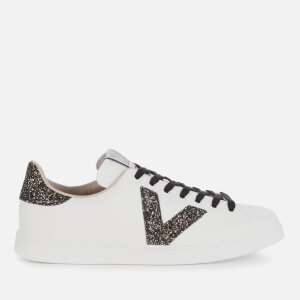Victoria Women's Sustainable Leather Tennis Trainers - Negro