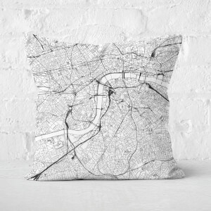 London City Map Square Cushion