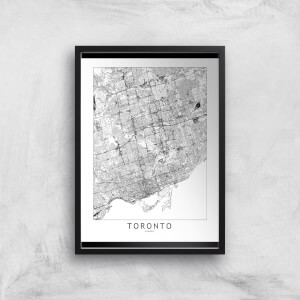 Toronto Light City Map Giclee Art Print