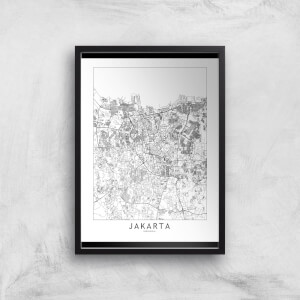 Jakarta Light City Map Giclee Art Print