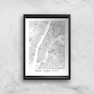 New York Light City Map Giclee Art Print