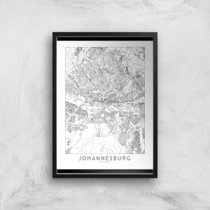 Johannesburg Light City Map Giclee Art Print