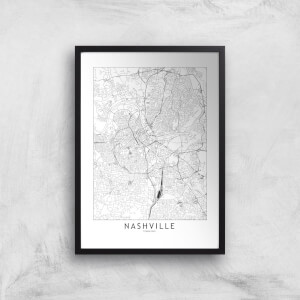 Nashville Light City Map Giclee Art Print