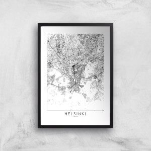 Helsinki Light City Map Giclee Art Print