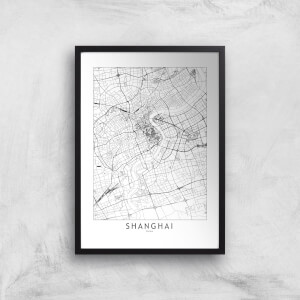 Shanghai Light City Map Giclee Art Print