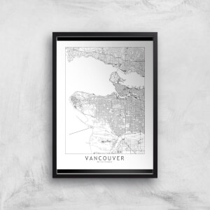 Vancouver Light City Map Giclee Art Print