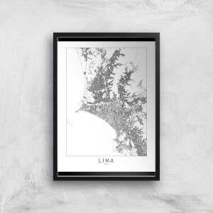 Lima Light City Map Giclee Art Print