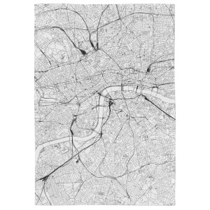 London City Map Tea Towel