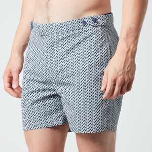 Frescobol Carioca Men's Beam Tailored Swim Shorts - Ink/Smoke