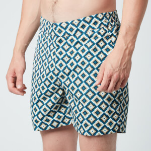 Frescobol Carioca Men's Pangra Classic Swim Shorts - Twine/Twilight