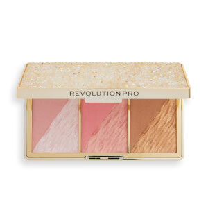 Revolution Pro Crystal Luxe Face Palette - Peach Royale