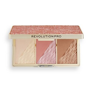 Revolution Pro Crystal Luxe Face Palette - Rose Fresco