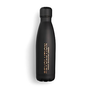 Makeup Revolution Water Bottle - Black Soft Touch