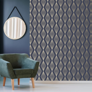 Boutique Sapphire Marquise Geometric Wallpaper