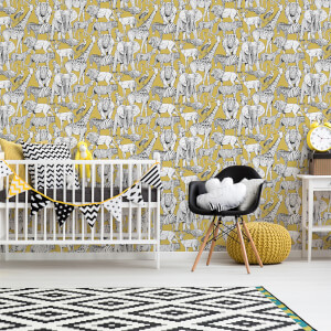 Superfresco Easy Jaune Jungle Animals Wallpaper