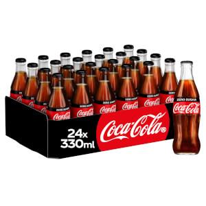 Coca-Cola Zero Sugar 24 x 330ml Glass Bottles