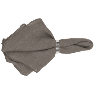 Broste Copenhagen Gracie Napkin - Grey