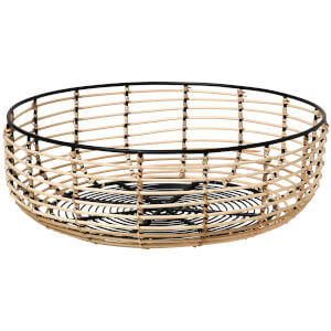 Broste Copenhagen Iron & Cane Basket - Medium