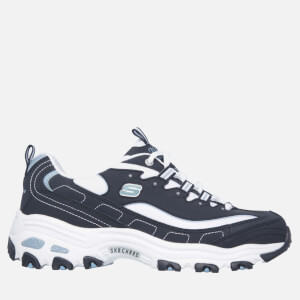 Skechers Women's D'Lites Biggest Fan - Navy/White