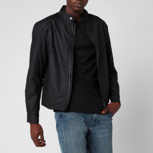 Barbour International Men's Stove Wax Jacket - Black