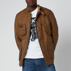 Barbour International Men's Slim International Wax Jacket - Sand