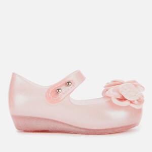 Mini Melissa Toddlers' Ultragirl Flower Ballet Flats - Pink Glitter