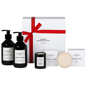 Urban Apothecary Coconut Grove Luxury Bath and Body Gift Set (4 Pieces)